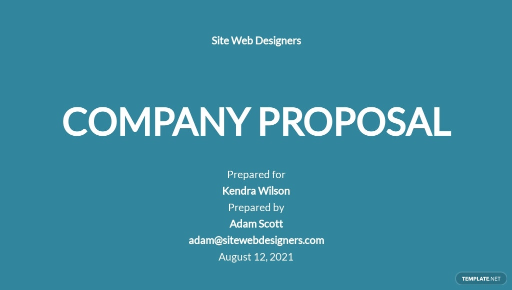 Company Proposal Template
