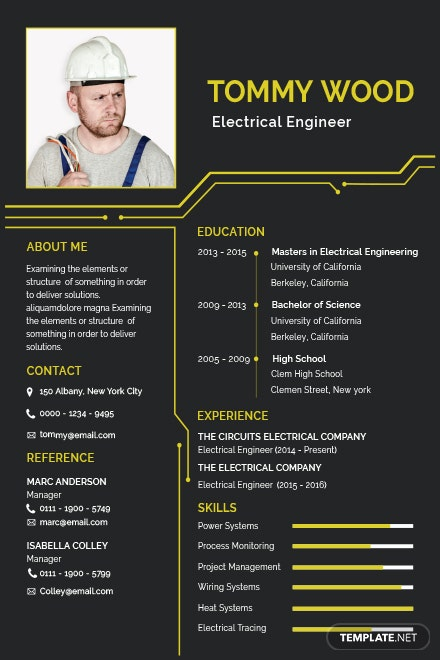 free architect resume template in adobe photoshop  microsoft word  publisher  apple pages