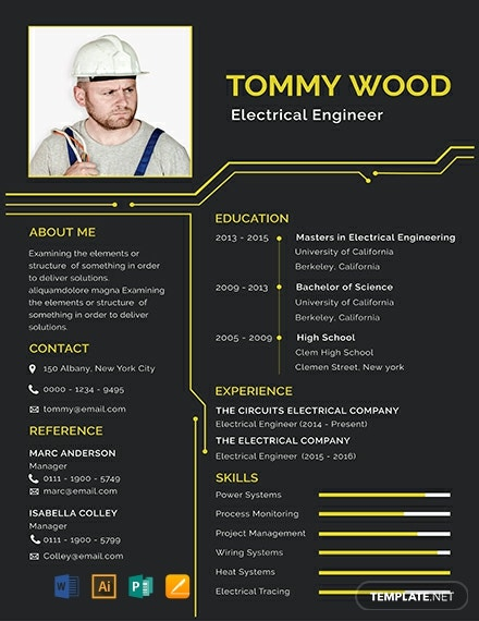 free electrical engineer resume template