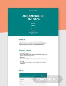 Fee Proposal Template