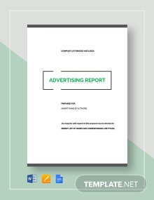 Advertising Report Template