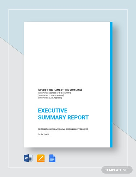 executive summary report 2