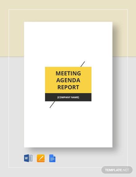 Meeting Agenda Report Template