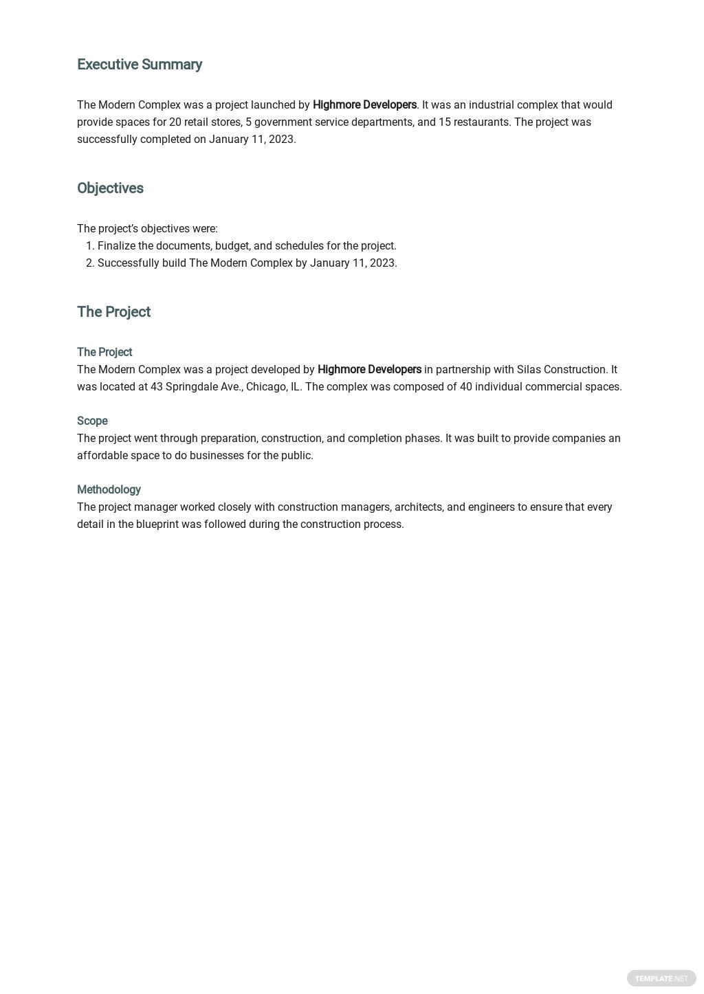 Project Report Template for Investors 1.jpe
