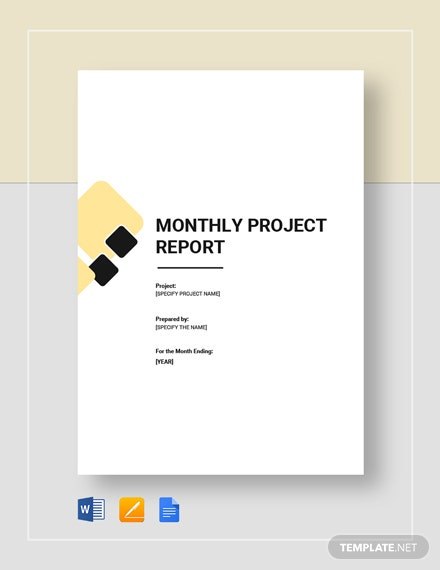 monthly project report 2