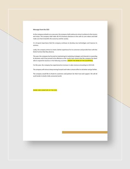 Sample Corporate Report