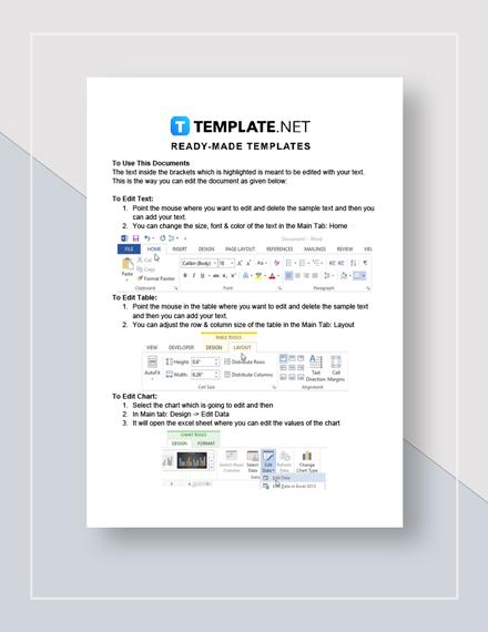 Customer Service Report Instructions