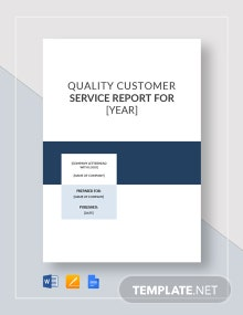 Customer Service Report Template