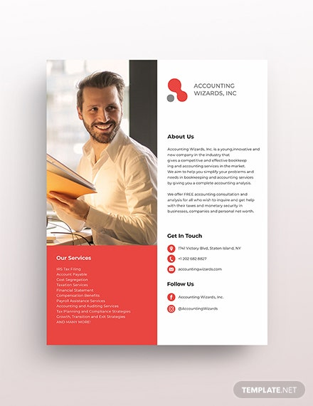 Accounting & Bookkeeping Services Flyer Template