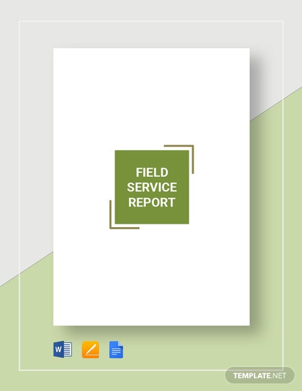 Field Service Report Template