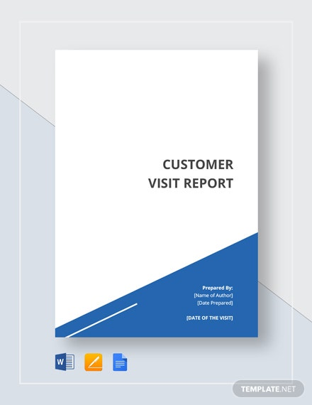 New Customer Visit Report Template