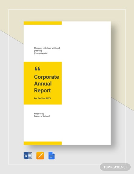 21+ Sample Annual Report Templates - Word, PDF, Pages | Free
