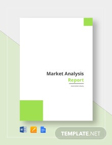 Market Analysis Report Template