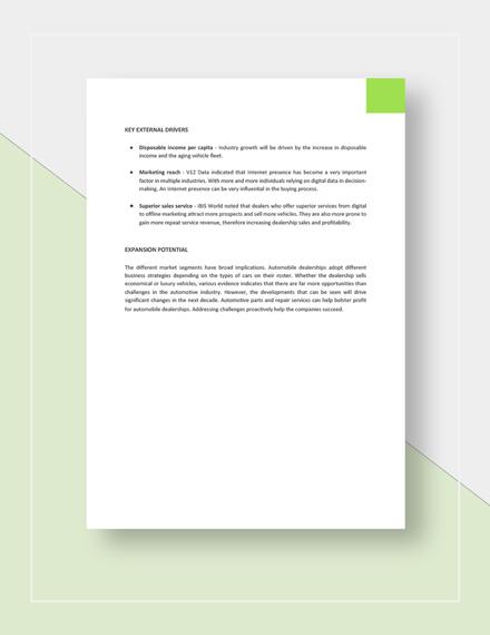 Market Analysis Report Download