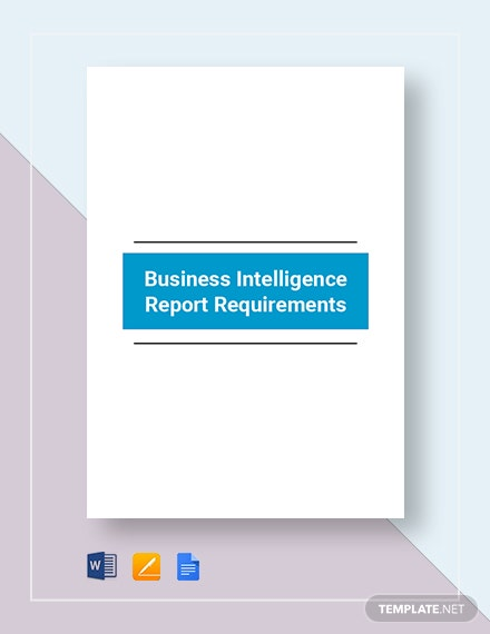 Business Intelligence Report Requirement Template
