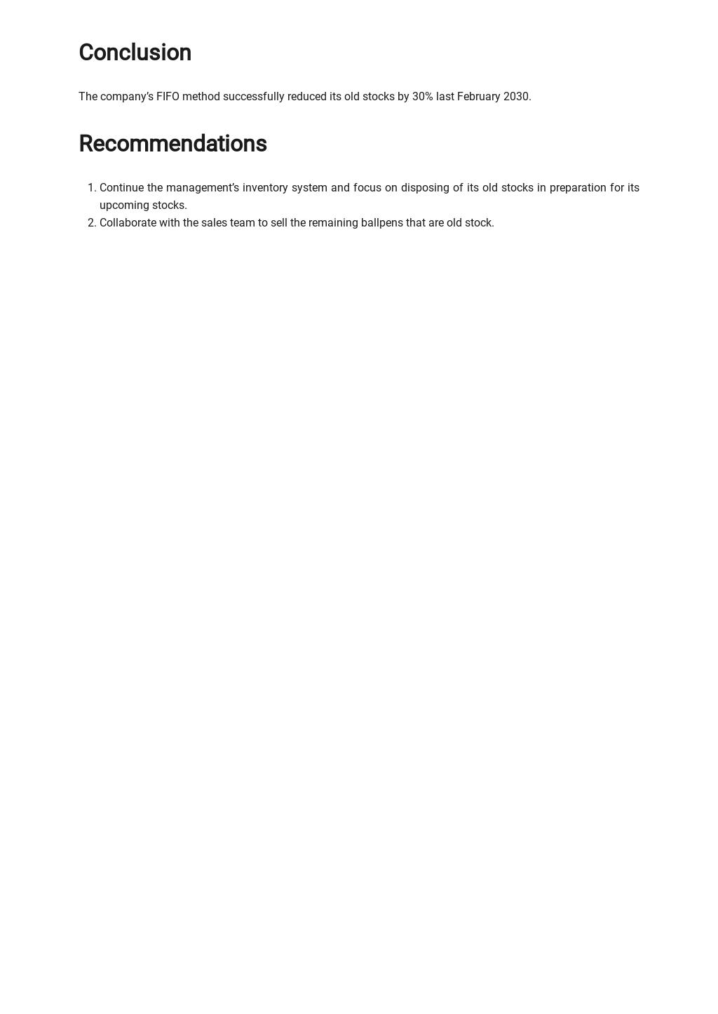 FREE Business Process Improvement Report Template - Google Docs, Word