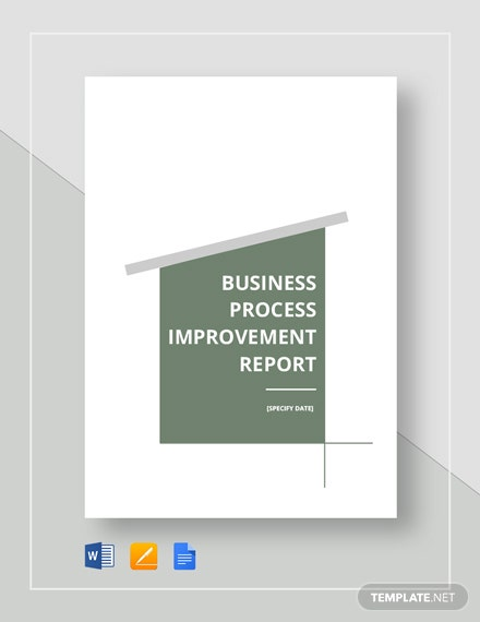 Business Process Improvement Report Template