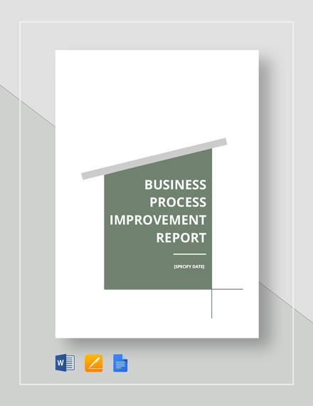 Business Process Improvement Report Template