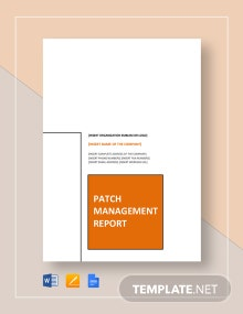 Patch Management Report Template