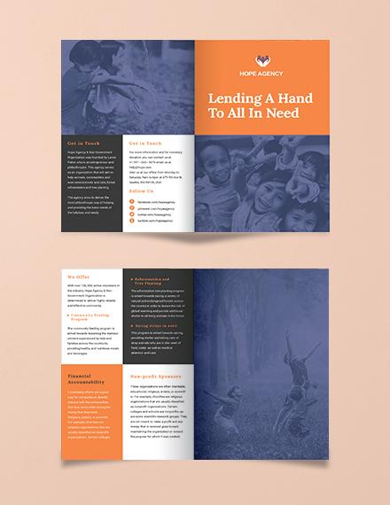 bi fold fundraising brochure template download 9 brochures in