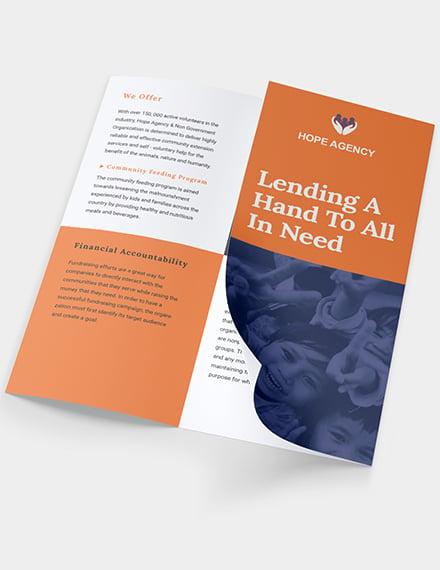 Sample TriFold Fundraising Brochure
