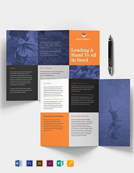 Tri-Fold Fundraising Brochure Template