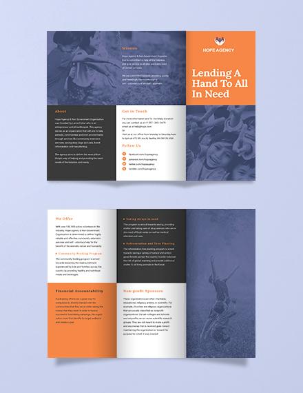 tri fold fundraising brochure template template net