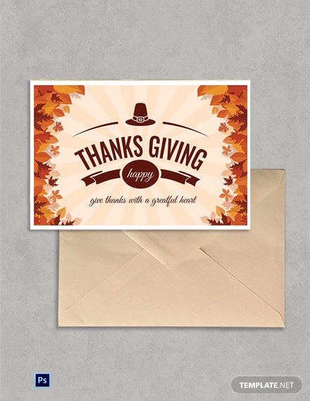 Printable Thanksgiving Greeting Card Template