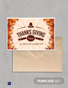 Free Printable Thanksgiving Greeting Card