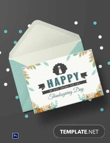 Free Thanksgiving Day Greeting Card Template