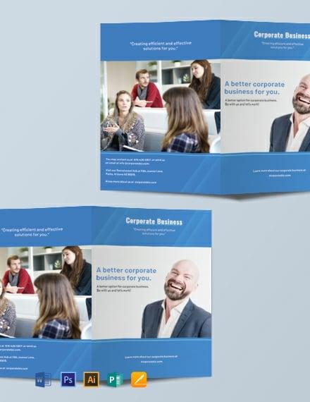 free corporate bifold brochure template 440x570 1
