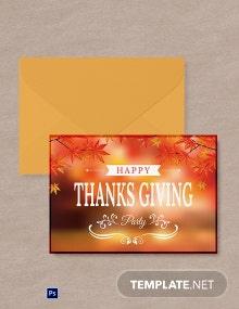Free Happy Thanksgiving Greeting Card