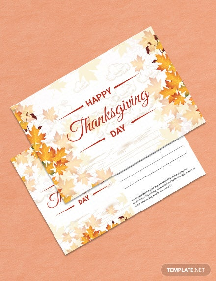 Printable Thanksgiving Postcard