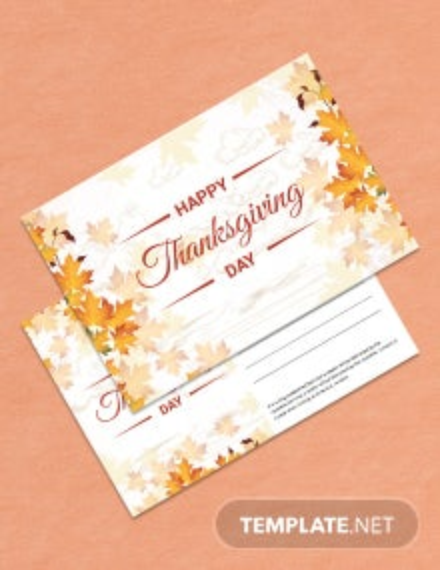 Printable Thanksgiving Postcard