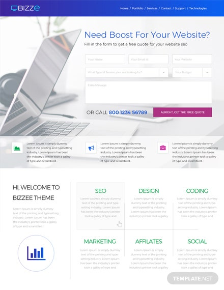 122 free website templates download ready made template net