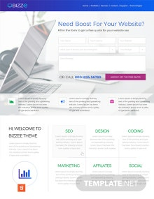Service Company HTML5/CSS3 Website Template