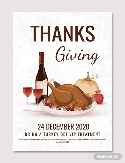 Thanksgiving Party Poster Template