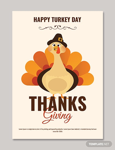 Happy Turkey Day Thanksgiving Poster