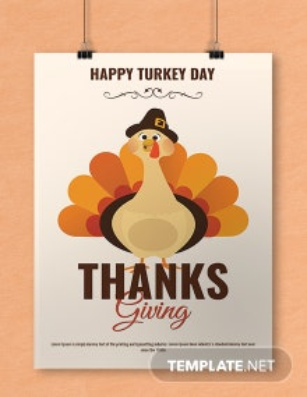 Happy Turkey Day Thanksgiving Poster