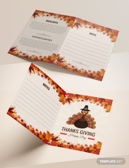 Thanksgiving Bi-Fold Brochure Template