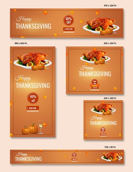 Thanksgiving Restaurant Banner Template
