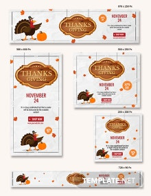 Thanksgiving Promotional Banner Template