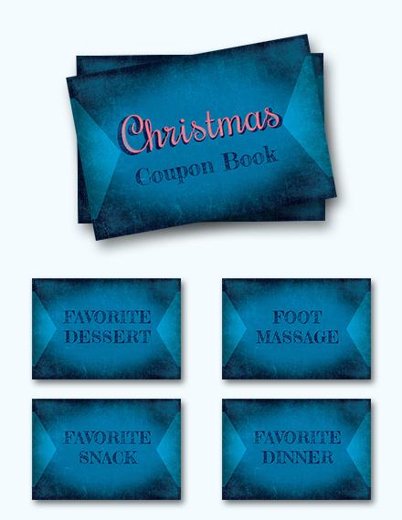 Christmas Coupon Book Template