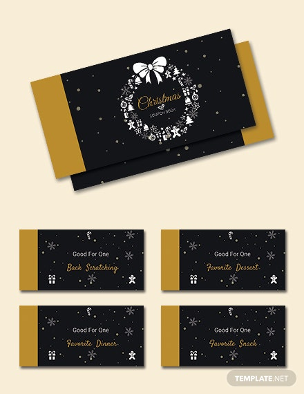 Free Christmas Discount Coupon Template Download 166 Vouchers In
