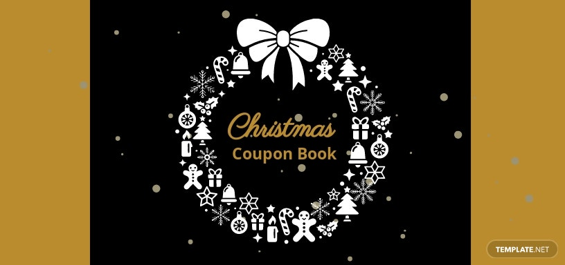 Coupon Book for Christmas Celebrations Template