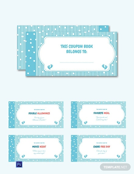 Free Coupon Book Template for Kids