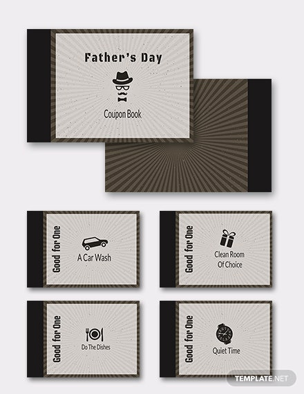 Coupon Book for Father's Day