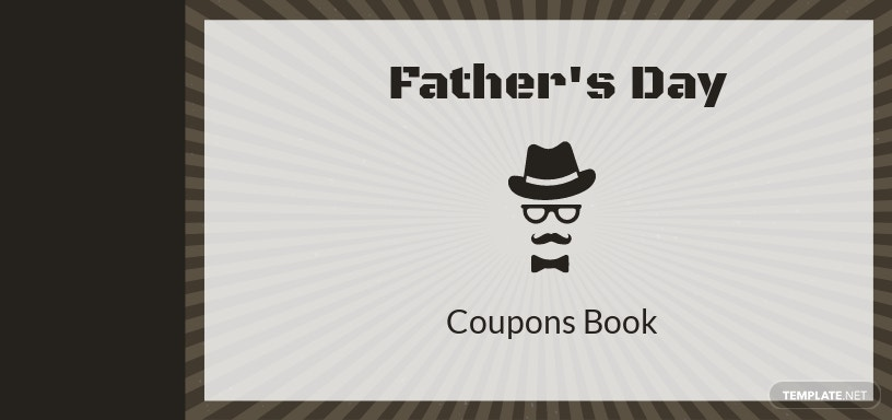 Coupon Book for Father's Day Template