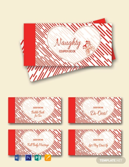 Free Heart Coupon Book Template