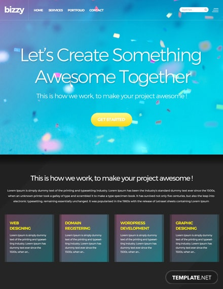 Web Development HTML5/CSS3 Website Template